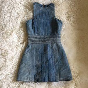 Aut Balmain Donna Porto Camp Jean Mini Dress 36 XS